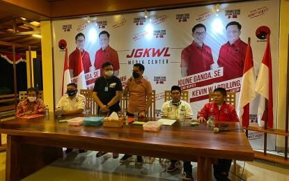 PKPI, Perindo dan PKB Sepakat Dukung Joune-Kevin di Pilkada Minut