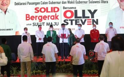 Resmikan Sekretariat Tim Kampanye, ODSK Dideklarasi Calon Gubernur dan Wakil Gubernur Sulut