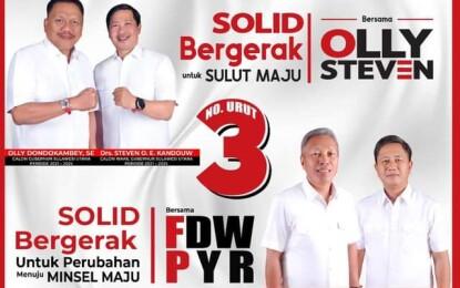 Miliki Nomor Urut Tri Tunggal_ OLLY-STEVEN # FDW-PYR Kans Menang Telak