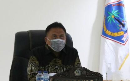 Melalui Virtual, Gubernur Olly Ikuti Rapat Bersama Presiden Joko Widodo