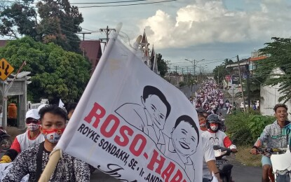 Massa Pendukung ROSO-HARUM Tumpah Ruah Memadati Loksai Pendaftaran