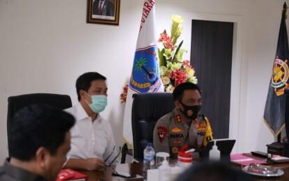 Wagub Kandouw Ikuti Rakor Virtual Penegakan Protokol Covid-19 Pada Pilkada Serentak