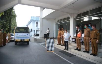 Jauhkan Dari Posko Partai, Lomban Launching 100 Ton Bantuan Beras