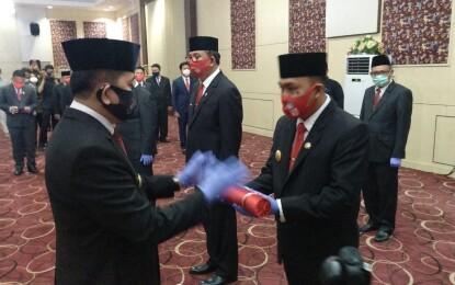 Tiba di Manado, Pjs Gubernur Sulut Kukuhkan 5 Pjs Kepala Daerah