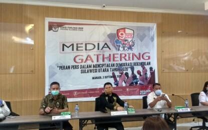 KPU Sulut Gelar Media Gathering dengan Insan Pers