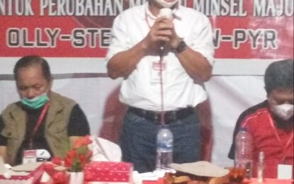 Ribuan Massa Kawal Konsolidasi Pemenangan FDW-PYR DiKecamatan Tumpaan