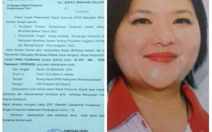 JACKO; Surat Bernomor 158/DPRD/IX/2020_DiNilai Langgar TATIB