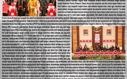 Rapat Paripurna DPRD dalam Rangka HUT ke-56 Provinsi Sulut