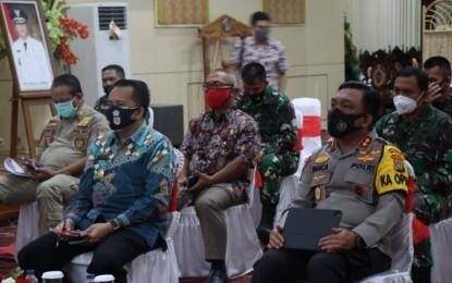 Pjs Gubernur Fatoni Ikuti Rakor Anev Pelaksanaan Kampanye Pilkada Serentak 2020