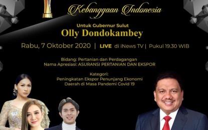 Olly Dondokambey Sabet Indonesia Award (IA)-IV 2020