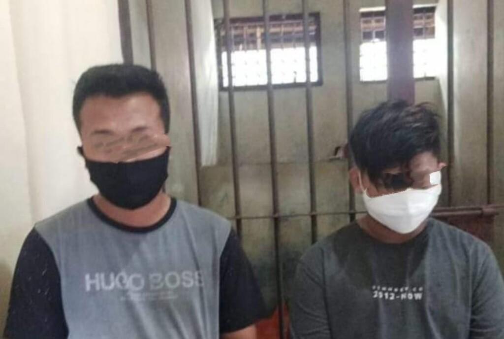 Dua orang diduga pelaku diamankan Polsek Matuari.