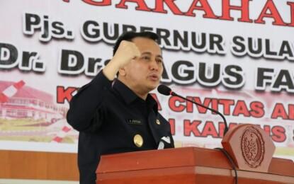 Pjs Gubernur Fatoni Gelorakan Spirit Pancasila dari IPDN Kampus Sulut