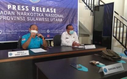 BNNP Sulut Tangkap Dua Tersangka Sindikat  Pengedaran Sabu dari Malaysia