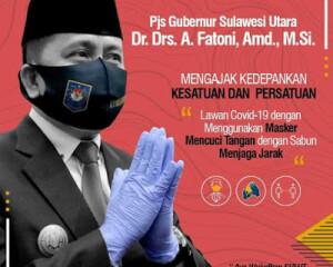 Peduli Pada Masyarakat; Pjs Gubernur Agus Fatoni Terus Gaungkan Prokes