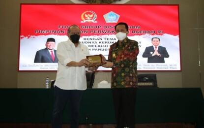 Rawat Kerukunan di Tengah Pandemi C-19 dan Pilkada, Pjs Gubernur Fatoni Apresiasi FGD DPD RI