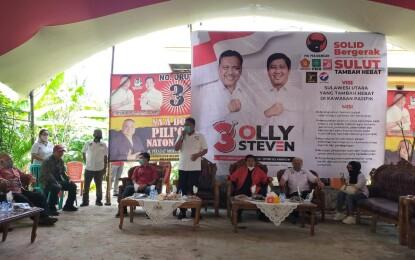 Dialog di Kecamatan Poigar Bolmong, Emak-Emak: Kami Siap Pilih Olly-Steven