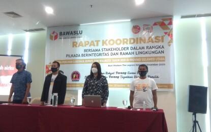 Bawaslu Sulut Laksanakan Rakor Bahas Pilkada Berintegritas dan Ramah Lingkungan