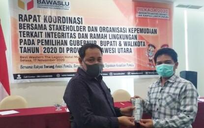 Rakor Bawaslu Sulut – Organisasi Pemuda, Herwyn Malonda: Ramah Lingkungan di Pilkada Sangat Penting