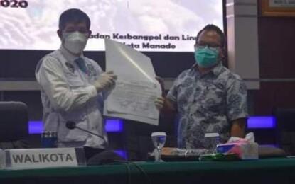 Pemkot Manado – BAWASLU Manado Teken Pakta Integritas Netralitas ASN di Pilkada 2020