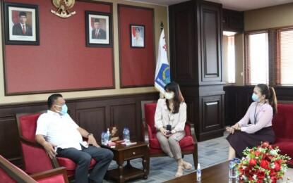 Bahas Peluang Kerjasama, Gubernur Olly Terima Audiensi PT Garuda Indonesia