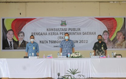 Walikota Tomohon Buka Kegiatan Konsultasi Publik