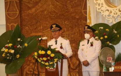 Resmi Pimpin Tomohon; Caroll-Wenny Sampaikan Pidato di Rapat Paripurna DPRD Tomohon
