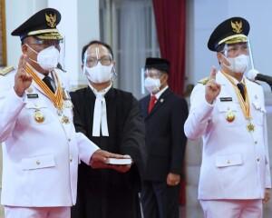 Presiden Joko Widodo Lantik ODSK Sebagai Gubernur dan Wakil Gubernur Sulut Periode 2021-2024