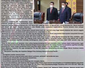 DPRD Sulut Gelar Rapat Paripurna dalam Rangka Mendengarkan Pidato Gubernur Sulawesi Utara