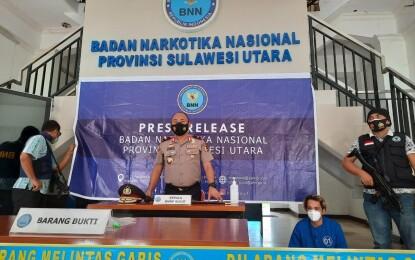 BNNP Sulut Tangkap Sopir Truk Pembawa 1.8 Gram Sabu