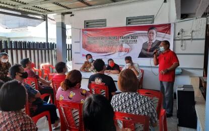 Agustine Kambey  Laksanakan Reses,  Warga Ranotana Minta Pembangunan Kanal