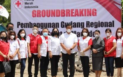 Wagub Kandouw Ground Breaking Gudang Regional PMI Sulut