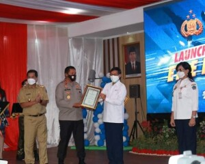 Launching ETLE Nasional Polda Sulut Dihadiri Walikota GSV Lumentut