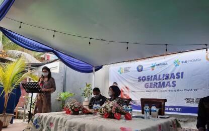 Felly Runtuwene Sosialisasi Germas di Pakowa