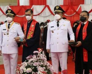 Gubernur Olly Resmi Melantik AA-RS Sebagai Walikota dan Wakil Walikota Manado Periode 2021-2024