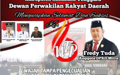 Tuda Apresiasi Raihan WTP Kabupaten Minahasa Tenggara
