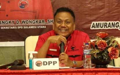 Buka RAKERCAB PDIP Minsel, DONDOKAMBEY Sentil Soal Militansi