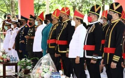Walikota AA dan Wawali RS Ikuti Upacara Lahirnya Pancasila
