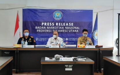 BNNP Sulut Bersama Bea Cukai Amankan Sembilan Pengguna Narkoba