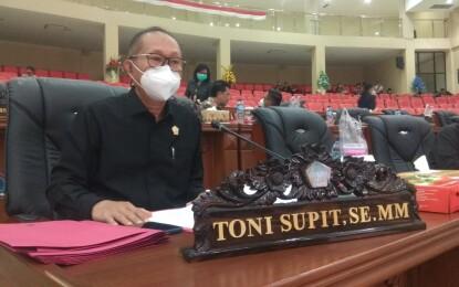 Toni Supit Minta Penjelasan Penyaluran Dana PEN Provinsi Sulawesi Utara