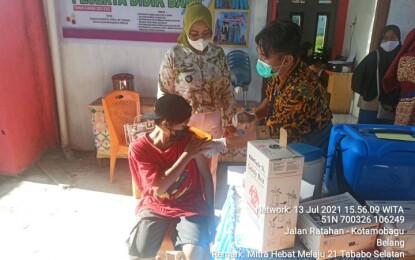 Vaksinasi Covid 19 Sasar Masyarakat Desa Tababo Selatan