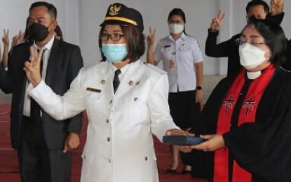 Fera Aiko Sanger Resmi Di Percayakan Jabat Camat Ratatotok