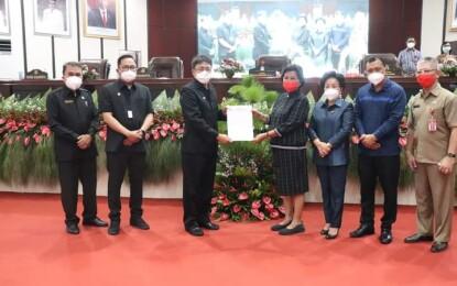 AA-RS Ikuti Rapat Paripurna DPRD Kota Manado yang Membahas Soal Ini