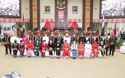 Rapat Paripurna HUT Provinsi ke – 57 Kedepankan Protokol Kesehatan, Tonjolkan Budaya Daerah