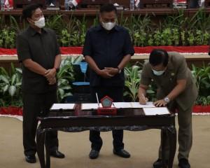 Nota Kesepakatan KUA-PPAS TA 2022 Ditandatangani dalam Rapat Paripurna