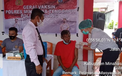 Sukseskan Vaksinasi Covid 19, Masyarakat Desa Buku Utara Diharapkan Tidak Terpengaruh Dengan Berita Bohong